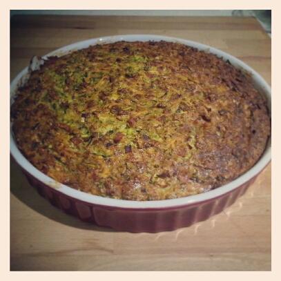 Paleo Zucchini slice Cooked