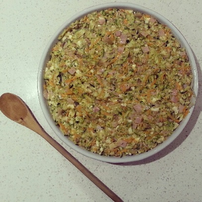 Paleo Zucchini slice uncooked
